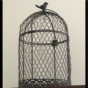 Metal and wire decorative birdcage 🐦